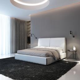 Hotel Schlafzimmer mit Bett, Textilien und Sitzmöbel