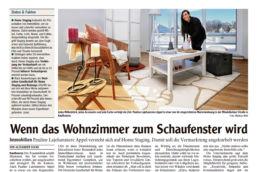 Allgäuer Zeitung VISUAL BUHO Home Staging Artikel