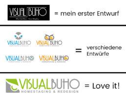 Gründen Verschiedene Logos VISUAL BUHO