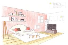 Redesign - Skizze Wohnbereich