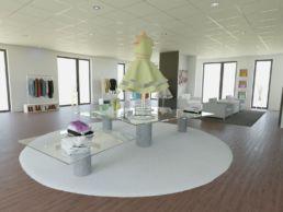 Visualisierung Boutique modern Kleid