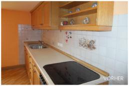 Alte Küche Orange Renovierung