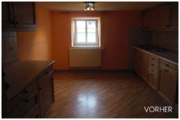 Alte Küche Holzmöbel Holzboden Renovierung