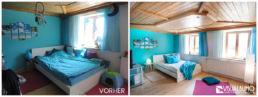 Türkis Schlafzimmer Home Staging