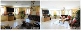 Home Staging Wohnzimmer aufbereitet weiße Teppich