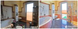 Home Staging Badezimmer aufbereitet