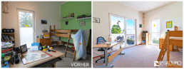 Home Staging Kinderzimmer Stockbett aufbereitet