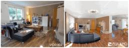 Home Staging Wohnzimmer aufbereitet