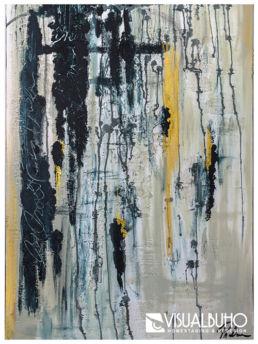 Gemälde Blau und Gold Visual Buho
