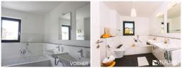 Home Staging Badezimmer aufbereitet modern