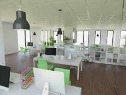 Visualisierung Office modern grün und weiß
