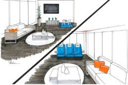 Reisebüro Skizze Loungebereich Einrichtungsberatung