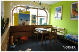 Reisebüro Loungebereich alt Renovierung