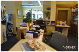 Reisebüro Arbeitsplatz alt Renovierung