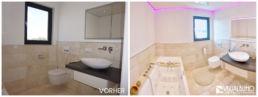 Home Staging Badezimmer Beleuchtung weiß