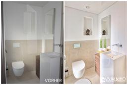 Home Staging puristisch Gäste WC