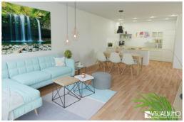 Wohnung Wohnzimmer - Ansicht Küche