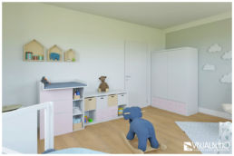3D Home Staging Kinderzimmer Tür