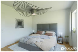 3D Home Staging Schlafzimmer Bett