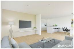3D Home Staging Wohnzimmer Küche