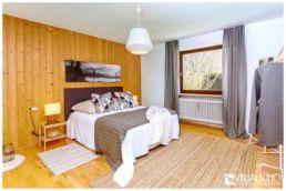 Home Staging Schlafzimmer Bett graue Töne