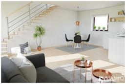 3D Home Staging Wohnen Kupfer grau