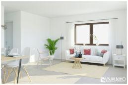 3D Home Staging Wohnen skandinavisch