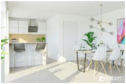 3D Home Staging Essbereich Küche Skandinavisch