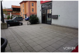 Fotomontage Außenbereich Eingang leer
