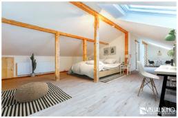 Fotomontage Schlafzimmer skandinavisch