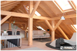 Fotomontage Dachgeschosswohnung modern Dachschräge