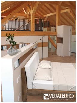 Fotomontage Dachgeschosswohnung modern