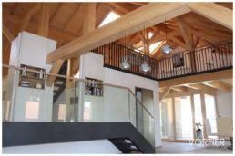 Fotomontage Dachgeschosswohnung modern Lampen