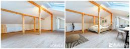 Fotomontage Dachgeschosswohnung skandinavisch