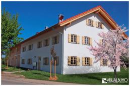 Fotomontage Bauernhaus Apfelbaum