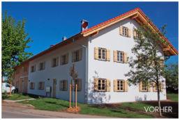 Professionelle Fotomontage - Hausfassade - Vorher