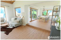 3D Home Staging Wohnbereich Chalet Alpin