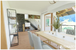 3D Home Staging Essbereich Chalet Alpin