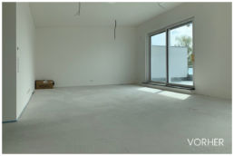 3D Home Staging wohnbereich rohbau