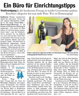 Foto artikel Allgäuer Zeitung VISUAL BUHO Neueröffnung