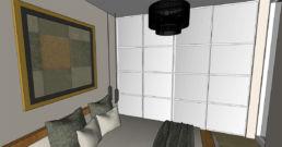 Visualisierung Schlafzimmer mit Spigelschrank ungerendert