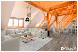 Wohnzimmer Ferienwohnung Fotomontage