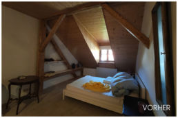 schlafzimmer vorher ferienwohnung