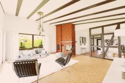 3d home staging wohnzimmer architektenhaus