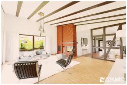 Wohnzimmer modern architektenhaus 3D Home Staging