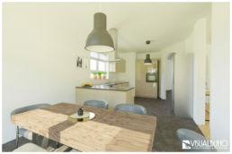 Küche Industrial beige 3D Home Staging