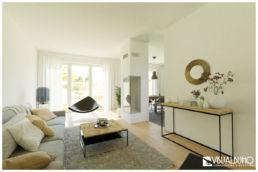 Wohnzimmer Industrial beige 3D Home Staging