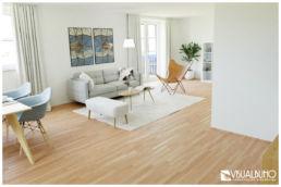 Essbereich Dachgeschosswohnung 3D Home Staging