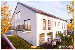 Mehrfamilienhaus Gersthofen Architekturvisualisierung