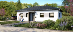 architekturvisualisierung rendering bungalow